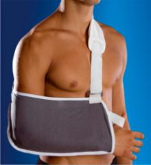 Bandage on elbow