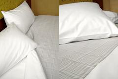 Λευκό σεντόνι ξενοδοχείου