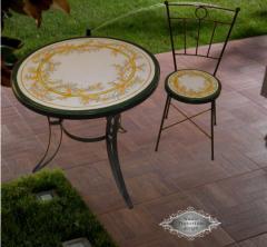 Τραπέζι χειροποίητο ήλιος