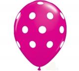 Μπαλόνια 12'' πουά φούξια
