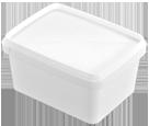 Ορθογωνιο δοχειο 400 gr με ασφαλεια