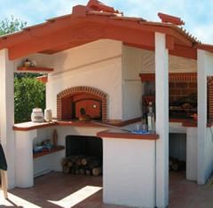 Φούρνος κήπου με μπάρμπεκιου