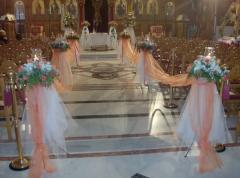 Στολισμός εκκλησίας για γάμους