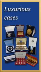 Velvet display cases for coins