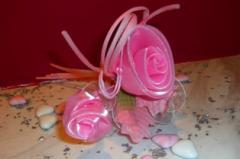 Μπομπονιέρες γάμου τριαντάφυλλο ροζ