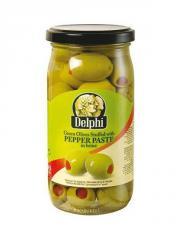 Delphi Green olives st. pepper paste 370ml jar