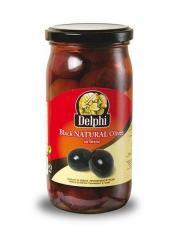 Black natural olives 370ml jar