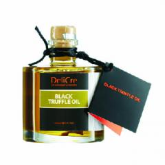 Black truffle aroma olive oil with a slice of