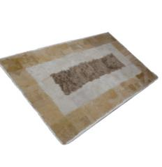 Furry rug from top quality sheepskin fur and sheep