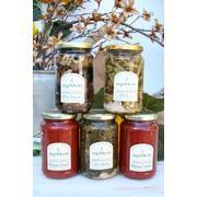 Σάλτσες πικάντικες / Hand made  Spicy Sauce 460 g (3 items-- capers, ginger, basil)