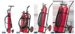 Πυροσβεστήρες CO2 Τροχήλατοι