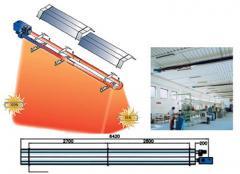 Συστημα θερμανσης με σωληνωτα κατοπτρα υπερυθρης