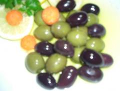 Olive oil cured olives for export