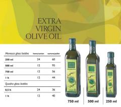 Ελληνικό ελαιόλαδο  Marasco glass bottles 250ml, 500ml, 750ml, 1il and Quadra 0,5 lt,1lt