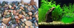 Pebble aquarium, decorative pebbles aquariums for
