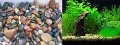 Pebble aquarium, decorative pebbles aquariums for