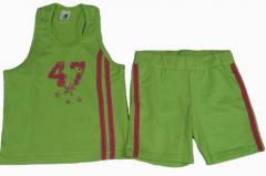 Girls' T-Shirts shorts and tshirt 95% cotton,