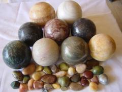 Spheres quartz, onyx, calcite, aventurine
