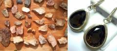 Natural stone, quartz, jasper the Onyx