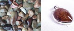 Tumbled stones braun quartz