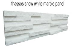 Thassos snow white marble panel