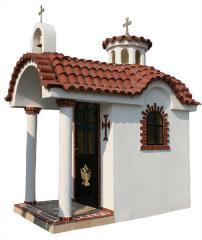 Πέτρινο εκκλησάκι επενδυμένο με πωρόλιθο - 1.50 χ