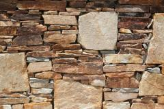 Σχιστόλιθος στενάρι χρυσαφί, εφαρμογές με πέτρα
