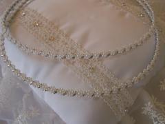 Венчальные венки с жемчужными ромашками и