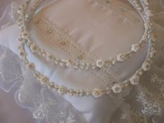 Orthodox Wedding Crowns, made of big white seeds,