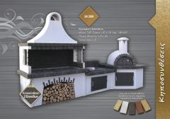 Garden brick barbecue SterCamin (sk 2001) Kηποσυνθεσεις με Πυροτουβλα Μαυρα-Γκρι , Καφε