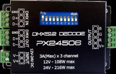DMX Decoder PX-24506 3channel dmx decoder