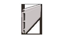 Φυλλαράκι προφίλ αλουμ. διπλής όψης 8 X 48 mm