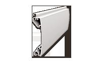 Φυλλαράκι προφίλ αλουμινίου  19 X 77 mm για