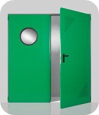 Απλές μεταλλικές πόρτες Rever