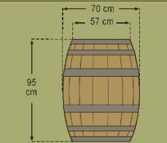Βαρέλι Γαλλικού τύπου (Bordeaux 225 lt style)