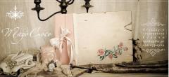 Βιβλίο Ευχών Vintage Βάπτισης - Γάμου