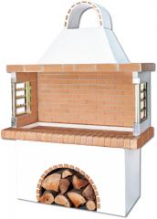 Ψησταριές – BBQ - garden barbecue - Gartengrill με κίτρινο πυρότουβλο, code new 0101 SXISTOLITHOS.