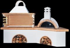 Ψησταριές κήπου – Barbecue garden – барбекю με παραδοσιακό φούρνο με ξύλα και κίτρινο πυρότουβλο, CODE NEW 0210 SXISTOLITHOS
