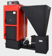Ο λέβητας Kombi kn-at, αποτελείται από τον λέβητα Kombi kn με τον μηχανισμό αυτόματης τροφοδοσίας και καύσης στερεών καυσίμων at.