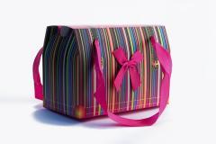 Τσάντα δώρου ριγέ