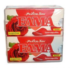 Τσίκλα Χίου ΕΛΜΑ (ELMA sugar free chewing gum with mastic and rose flavor)