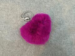 Fur Heart Keychain