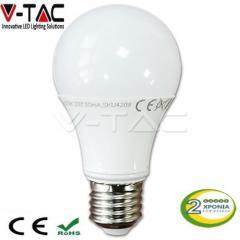 Λαμπτήρας Led E27 10 Watt A60 Thermoplastic V-TAC ΘΕΡΜΟ ΛΕΥΚΟ