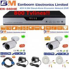 Πλήρες Ολοκληρωμένο συστήμα CCTV με 2 κάμερες αδιάβροχες νυχτερινής λήψης 800TVLINES new! 26002600 EONBOOM