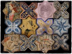 Χειροποίητα πλακάκια τραβερτίνη μοναστική σχέδια ζωγραφικής