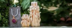Curved Candle - Περίτεχνα σχέδια χειροποίητων  κεριων