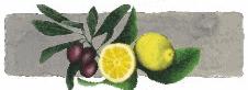Κορωνεικές ελιές αλασμενες με φρέσκα λεμόνια