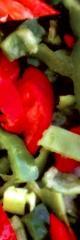 Πρασινη και κοκκινη πιπερια λωριδες από ελληνικό
