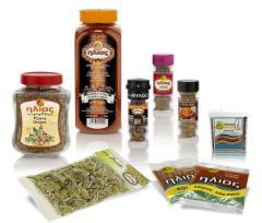Μπαχαρικά (φύλλα, σπόρια, καρποί, ρίζες, βολβοί