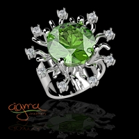 Ασημένια δαχτυλίδια με πέτρες άριστης ποιότητας